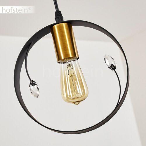 schwarz-gold Hänge Lampen Retro Pendel Leuchten Ess Wohn Schlaf Raum Beleuchtung