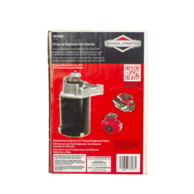 Briggs /& Stratton Starter Motor Opposed Twin Cylinder 5407K for sale online