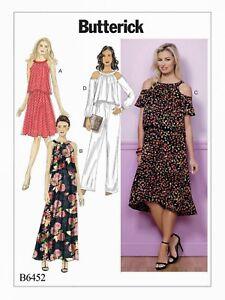 fad1add8ddf Image is loading Butterick-Pattern-6452-BP338-Misses-Dresses-Sizes-6-