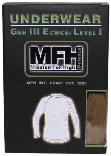 US Unterhemd Shirt Hemd sehr warm langarm leicht S M L XL XXL Level1 GEN III NEU