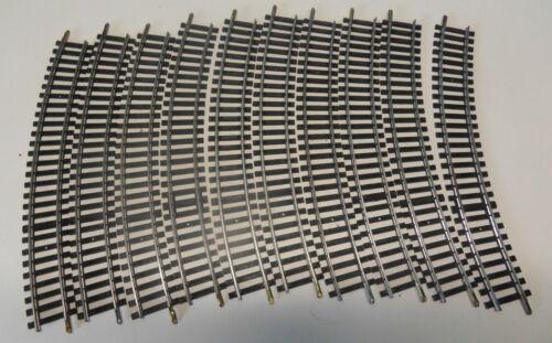 10 rails courbes 15° jouef 870  pour train electrique HO