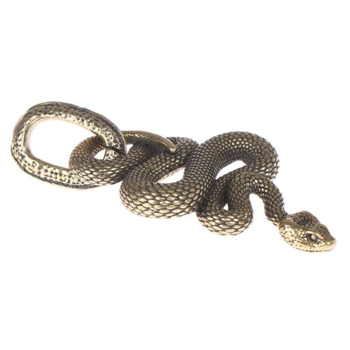 1pc Brass Snake Key Ring Boa Key chain Outdoor Small Accessories Car Hanginfw