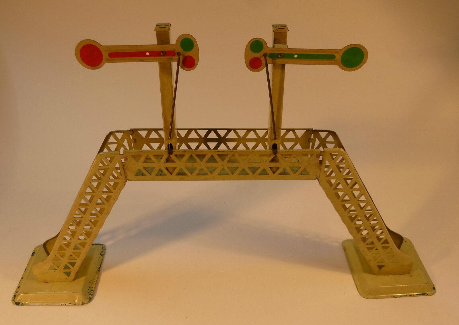 Ponte segnale ponte traccia 0 Ferrovia Giocattoli Giocattoli di latta ferroviario LAMIERA