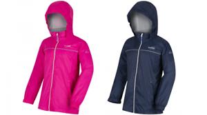 RKW187 Regatta Kids Packable Waterproof Boys /& Girls Fieldfare II Jacket MRP £40