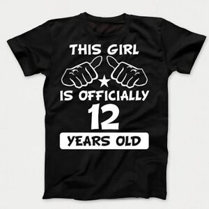 a765f21341b9 12th Birthday Kids Shirt - This Girl Is Officially 12 Years Old ...