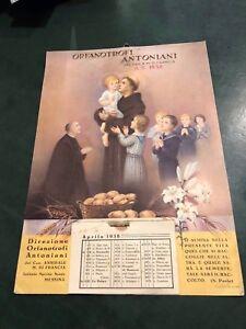 Calendario Religioso.Dettagli Su Calendario Religioso 1938 Orfanotrofi Antoniani Can A M Di Francia Vintage