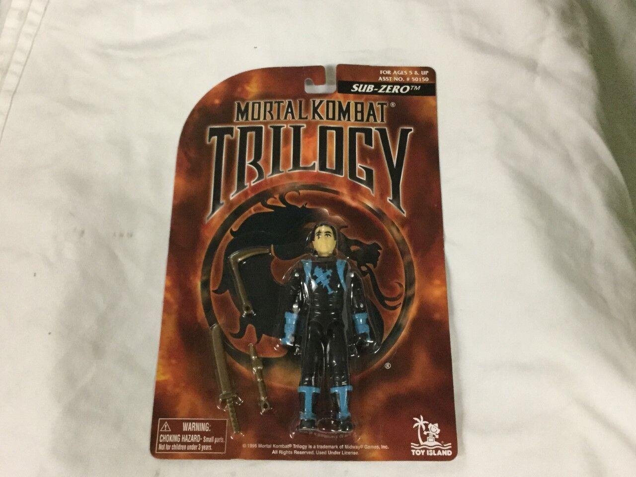 Vintage 1996 Mortal Kombat Trilogy Sub Zero Figure MOC MISP Sealed Carded FREESP