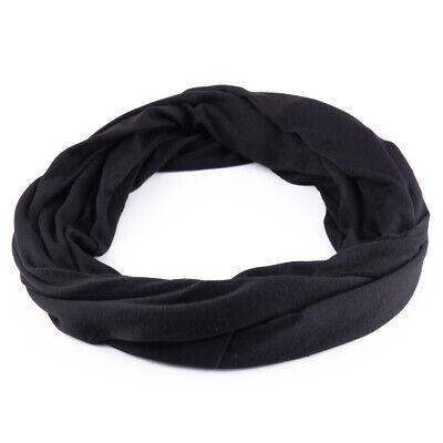 Unisex Schwarz Baumwolle Infinity Schal Versteckte Tasche Reisen diebstahlsicher