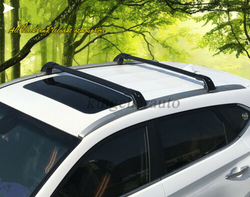 US Stock black fits KIA new sportage 2016-2019 roof rack rail cross bar crossbar