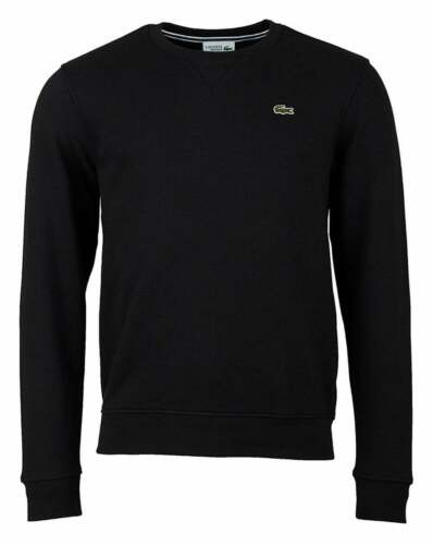 Lacoste Mens Sweater BRUSHED FLEECE CREW NECK SWEATSHIRT LACOSTE SH7613 NEW