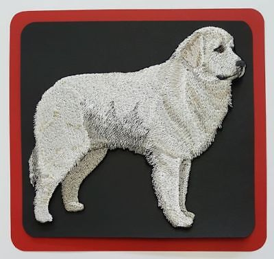 """Great Pyrenees Dog  Embroidered Patch  5.2/"""" x 4.8/"""" FREE USA SHIPPING"""