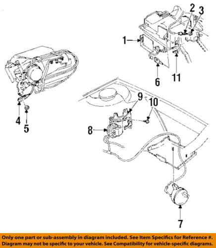 GM OEM Cruise Control System-Actuator Cable Retainer 15567924