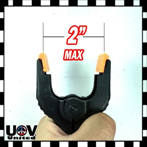 """4/"""" inch Heavy Duty Plastic Spring Clamps Tips DIY Small Tool Clip 2/"""" Jaw Opening"""