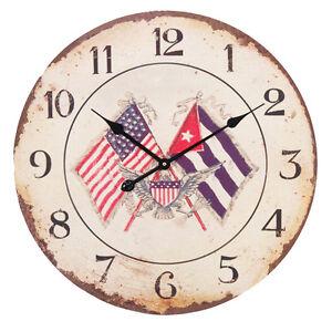 BRAND NEW EXTRA LARGE AMERICAN FLAG CLOCK 12 HOUR DISPLAY eBay