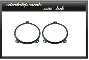 BMW-Serie-3-E-46-ANILLOS-ADAPTADORES-DE-ALTAVOZ-16-5cm-165mm-Adaptador-Anillos
