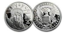 2 - 1 oz. 999 Fine Silver Rounds - 2014 Statue of Liberty- BU - Double Die Error