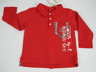 Timberland Baby Boys Long Sleeve Polo Shirt size 6 months Colour Red