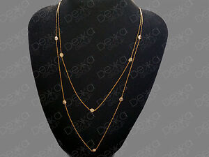 18K-Gold-On-925-Sterling-Silver-Long-Necklace-With-CZ-Cubic-Zirconia-Crystals