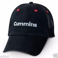 Cummins Dodge Ball Cap Hat Black Embroider Trucker Mesh Summer Cool One Size