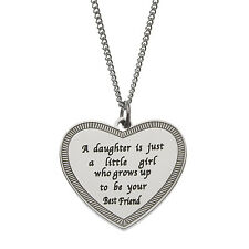 A Daughter Is Just a Little Girl Who Grows Up To Be…. Daughter Pendant Necklace