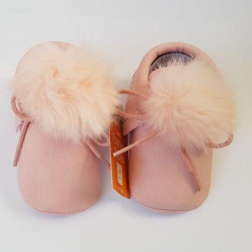 6-12 Monate Baby Mädchen Frühling  Schuhe mit Pompons Halbschuhe Rosa Gr