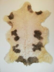 XLarge-Genuine-Serbian-spotted-sheepskin-rug-lamb-skin-hide-Long-super-soft-Fur