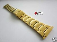 Oyster Style Oyster Spring-loaded End Gold Tone Mens Watch Band Bracelet