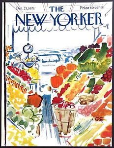 1971-Farmers-Market-Produce-Stand-by-Arthur-Getz-Oct-23-New-Yorker-COVER-ONLY