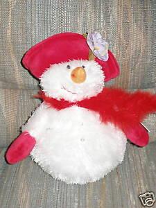 Snowbella Snowbelle Lot Red Hat Christmas Snowmen Ganz