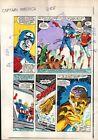 1980's Zeck Captain America 288 Marvel Comics color guide art page 8: Deathlok