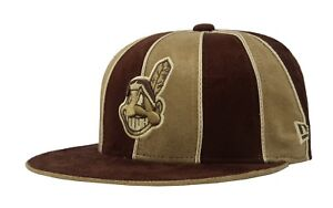 New Era 59Fifty Hat MLB Cleveland Indians Mens Womens 12 Pack Brown ... 6b2eb40b9