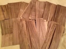 "65 pieces  1 pound of WALNUT 5"" x 8""  Mixed Wood Veneer pack Artist craft sample"