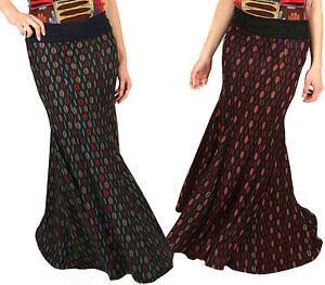 040c6bd07 Detalles de Invierno Falda Larga Plisado Sirena Maxi Hippy Bohemio  Multicolor Nepalí