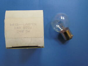 Ws K40 Ampoule Clair Pour Optique B22d 24v 5w Made In Germany-afficher Le Titre D'origine Une Offre Abondante Et Une Livraison Rapide