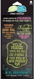 Friends-Stick-Together-LOL-Hampton-Art-Clear-Acrylic-Stamp-Set-SC0622-NEW