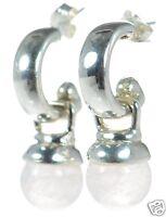 Joseph Esposito Solid 925 Sterling Silver Rose Quartz Charm Drop Earrings '