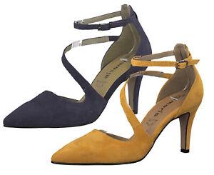 Details zu Tamaris 1 24499 33 Damen Pumps Riemchenpumps High Heels Leder