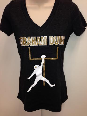 Graham Dunk New Orleans Saints Womens V neck T Shirt