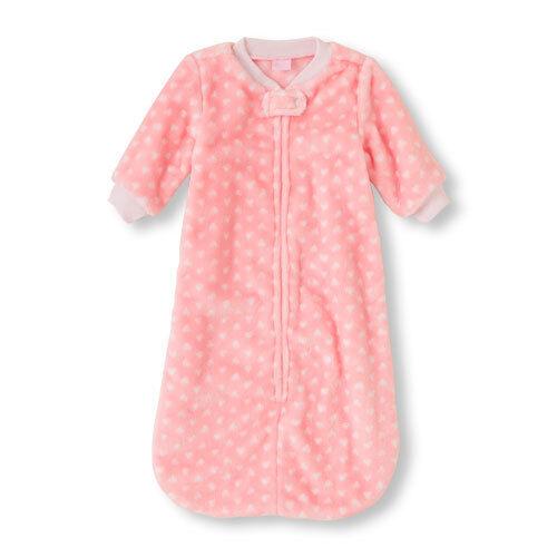 Schlafsack USA 56-62-68 Teddy Plüsch Mädchen rosa Nachtwäsche PLACE Baby weich