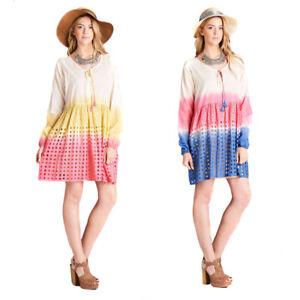 VELEZRA-Womens-Plus-Ombre-Tie-Dye-Eyelet-Woven-Long-Sleeve-Tunic-Dress-1X-2X-3X