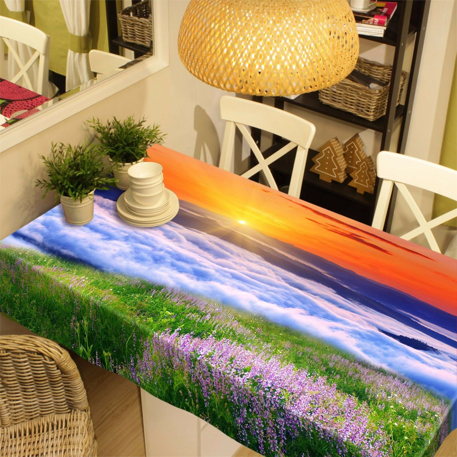 3D Sunrise 410 Tablecloth Table Cover Cloth Birthday Party Event AJ WALLPAPER AU