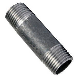 "Barrel Nipple Black Malleable Iron Pipe Fitting BSP 1/2"" & 3/4"""