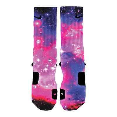 Custom Bubblegum Galaxy Nike Elite Socks