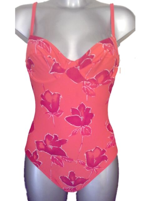 New Red Swimsuit UK 10 for B Cups Underwired Swimming Costume Bathing Suit