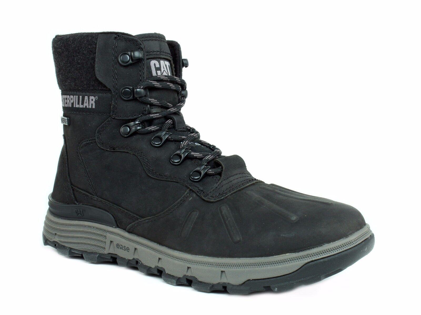 Caterpillar STICTION Hi ICE + W Impermeable Aislado botas De Cuero Negro para Hombre