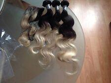 "Brazilian Virgin Hair  Blonde Ombre 1B/613# 16""18""20&14 Closure,7A Grade,350g"