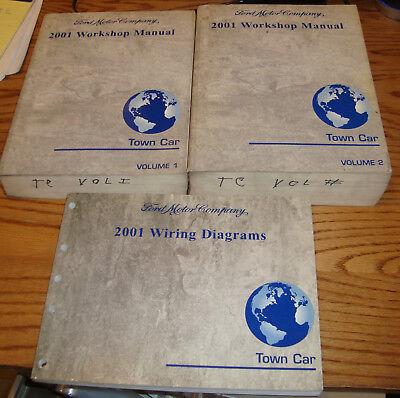Original 2001 Lincoln Town Car Shop Service Manual 1 & 2 ...