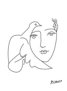 Details About Pablo Picasso Line Drawing Girl Bird Quality Canvas Art Print