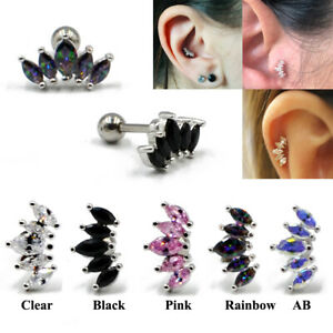 1pc-Marquise-Gem-Ear-Cartilage-Piercing-Earring-Tragus-Helix-Stud-Body-Jewelry