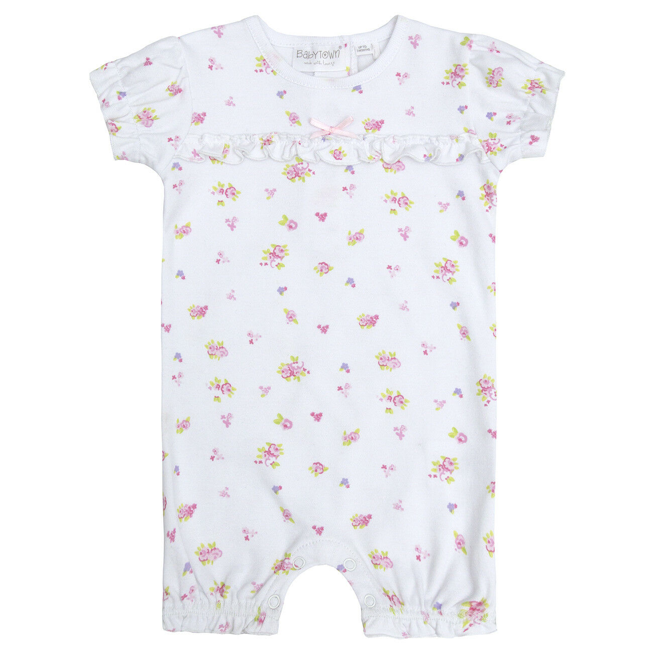 Bebé Niñas Ditsy Bunny Mameluco//Babygro//Mono corto